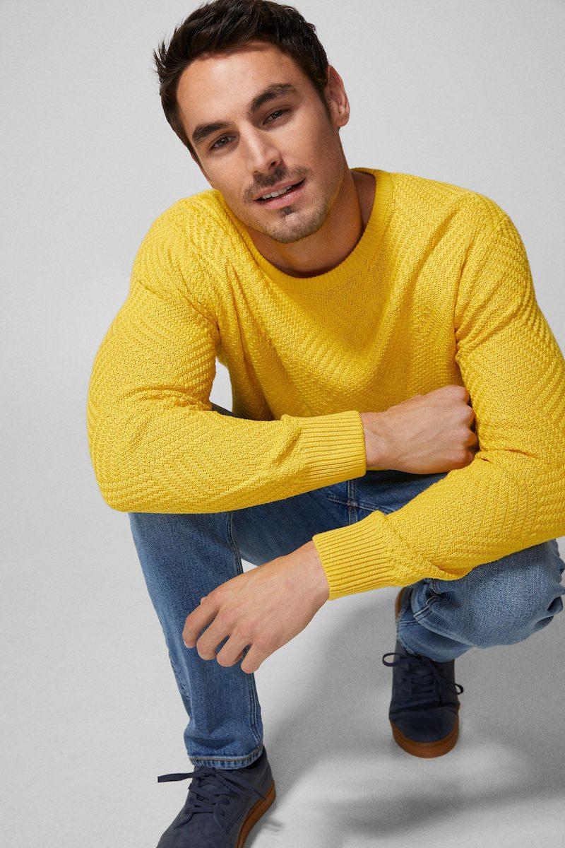 jersey amarillo primavera hombre