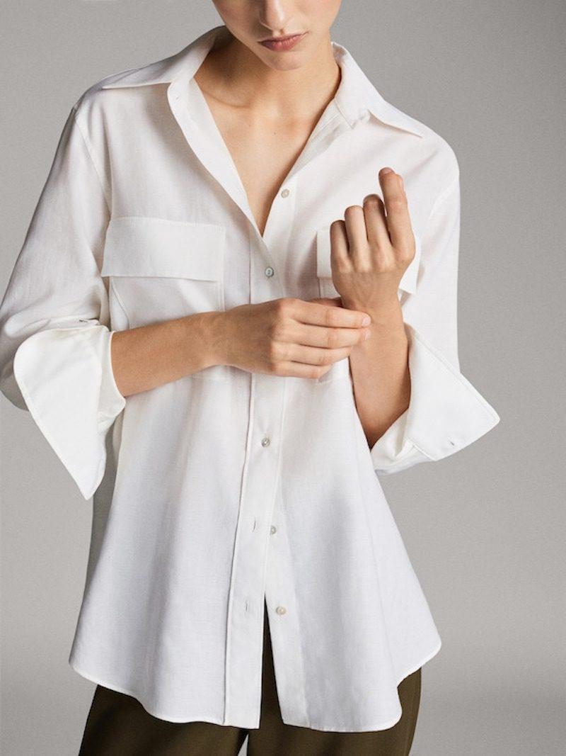camisa blanca tendencia