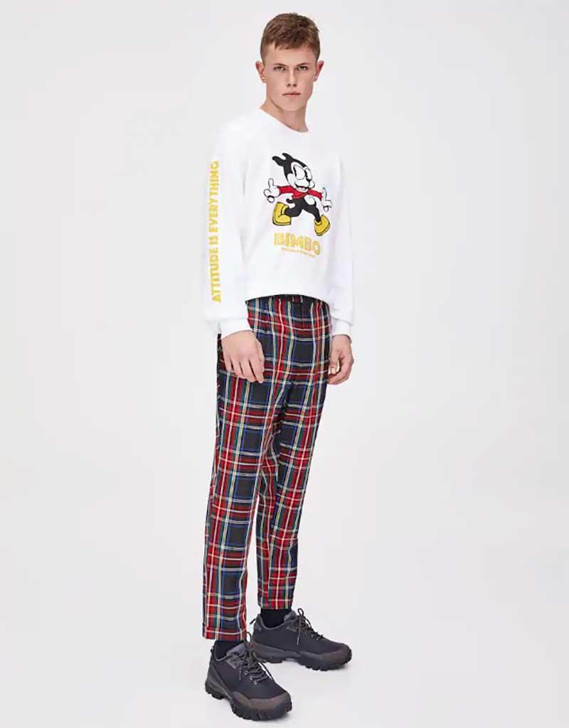 pantalon cuadros hombre